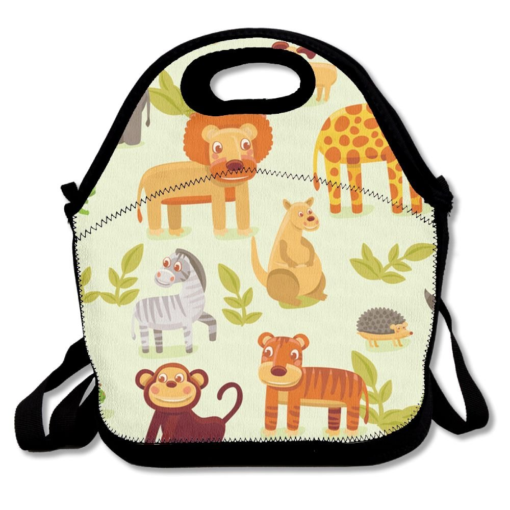 WANING MOON Lunch Box Adorable Animal Lunch Bag Insulation Picnic Bag With Adjustable Strap