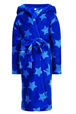 Childs Nightwear New Blue Star Print Dressing Gown Or All In One ...