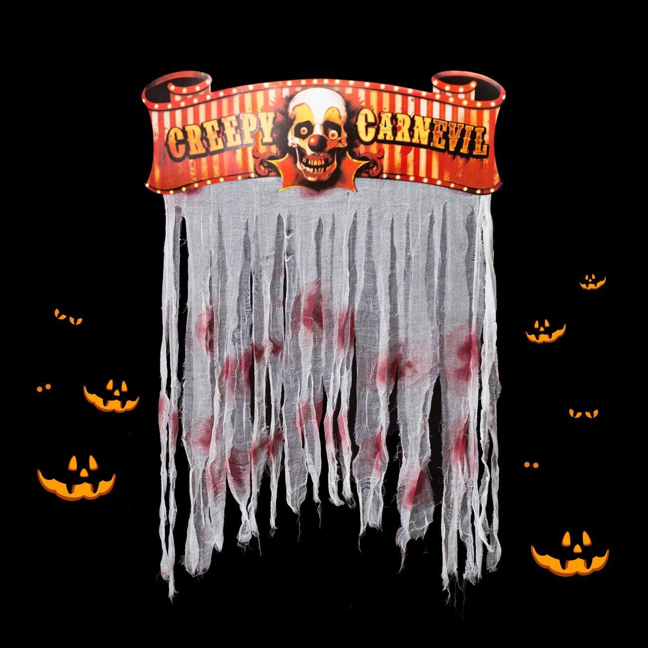 Kesoto Halloween Bloody Doorway Curtain Creepy Carnival Door Curtain Decoration, 54 x 38 in