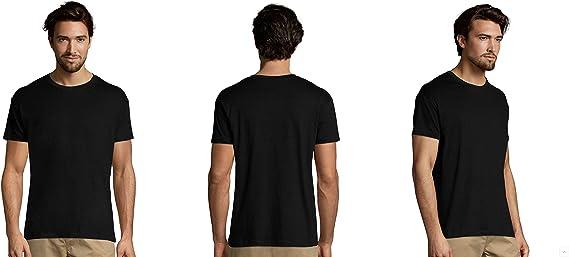 MARNAULA Pack 25-50 o 100 Camisetas Negras 100% Algodon Unisex: Amazon.es: Ropa y accesorios