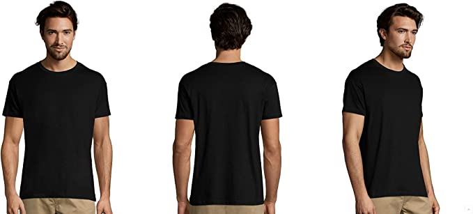 MARNAULA Pack 25-50 o 100 Camisetas Negras 100% Algodon Unisex ...