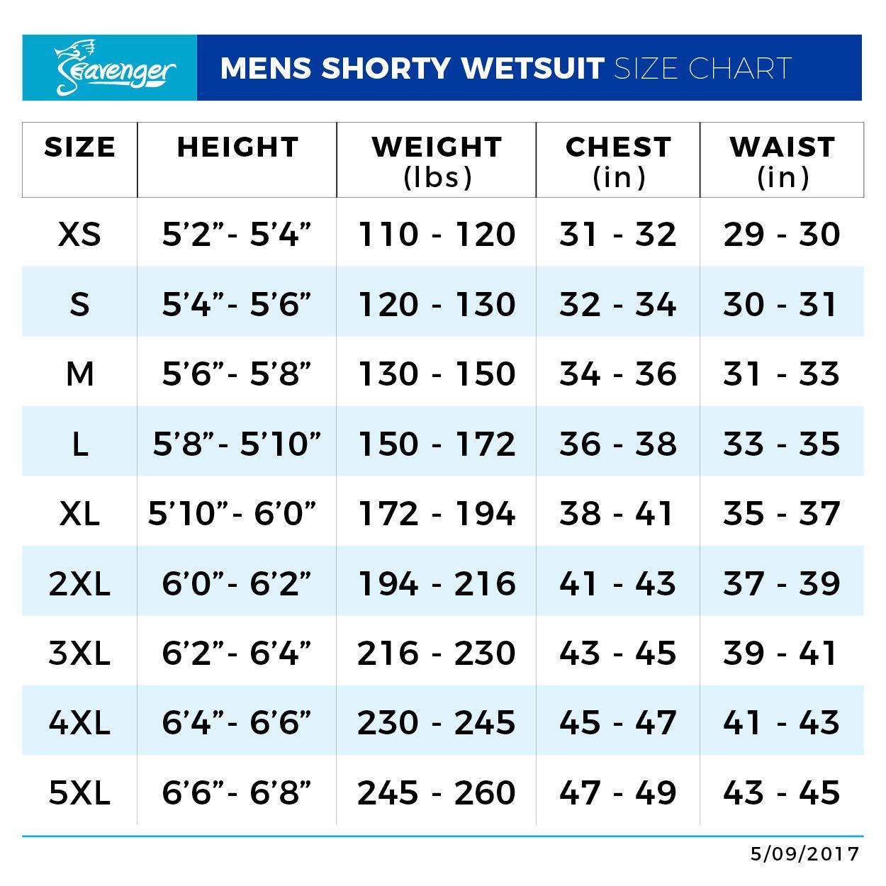 Seavenger Navigator 3mm Neoprene Shorty Wetsuit