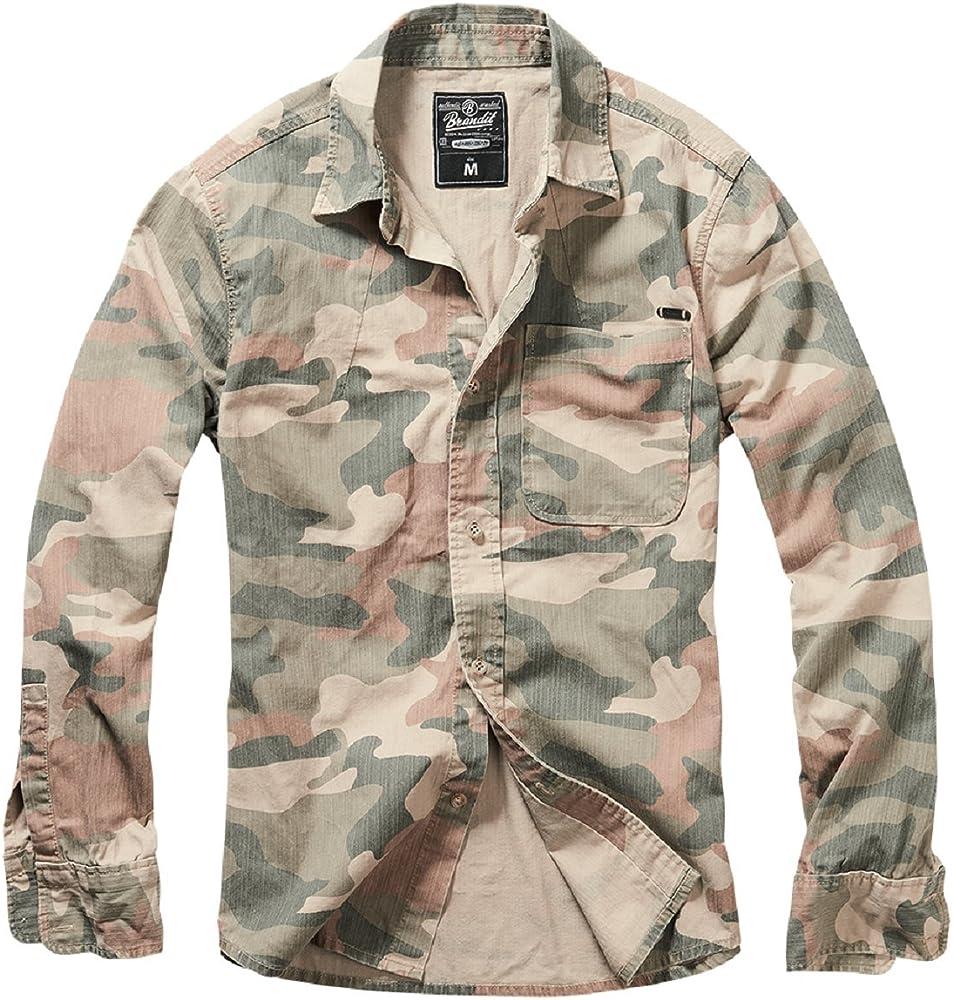 Brandit Shirt Josh Shirt Camo: Amazon.es: Ropa y accesorios