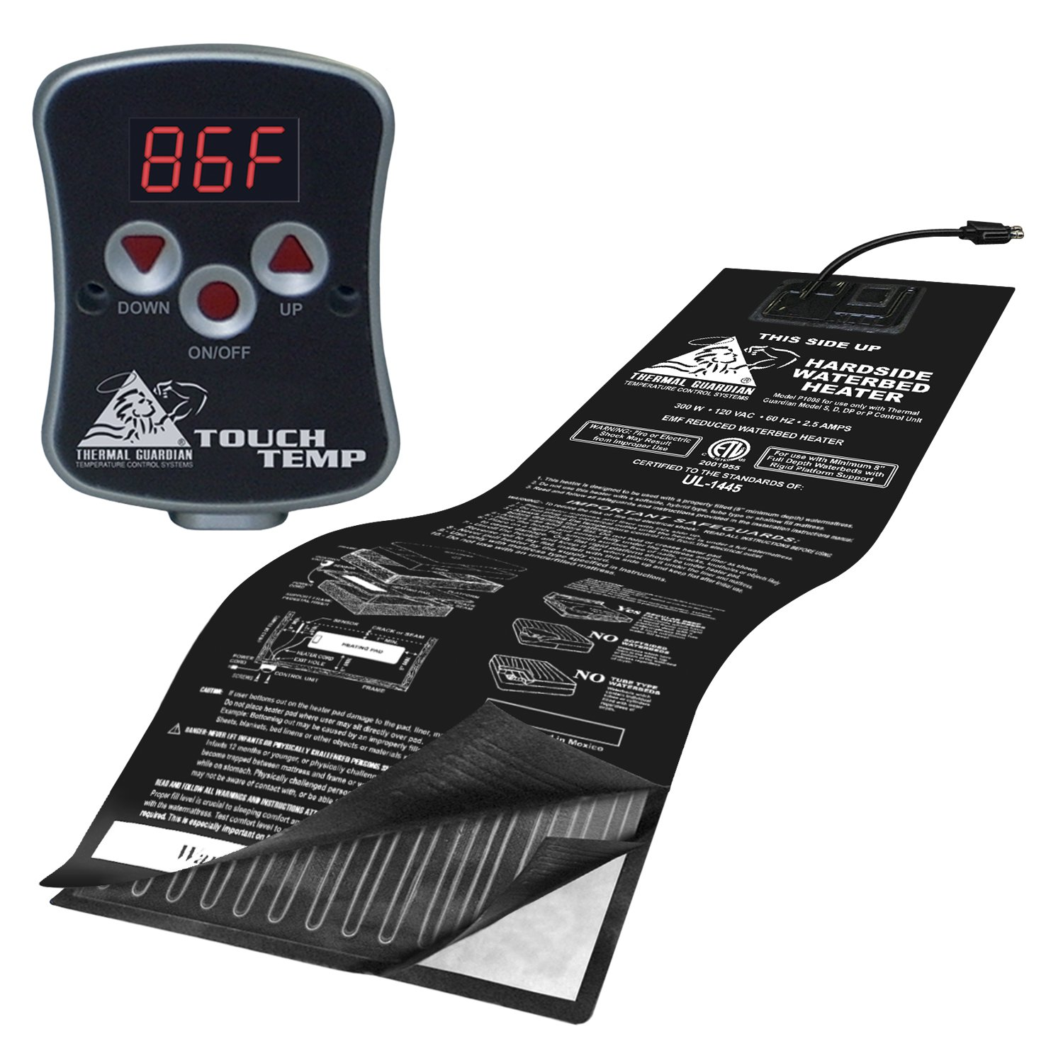 INNOMAX Thermal Guardian Touch Temp Solid State Hardside Waterbed Heater, Full Watt by INNOMAX