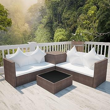 festnight salon de jardin canape de jardin 14 pcs rsine tresse 2 canaps 1 table - Canape De Jardin