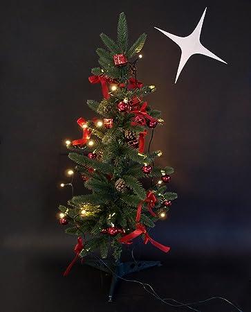 Weihnachtsbaum 75cm mit Deko und 20er LED Lichterkette, für Innen ...