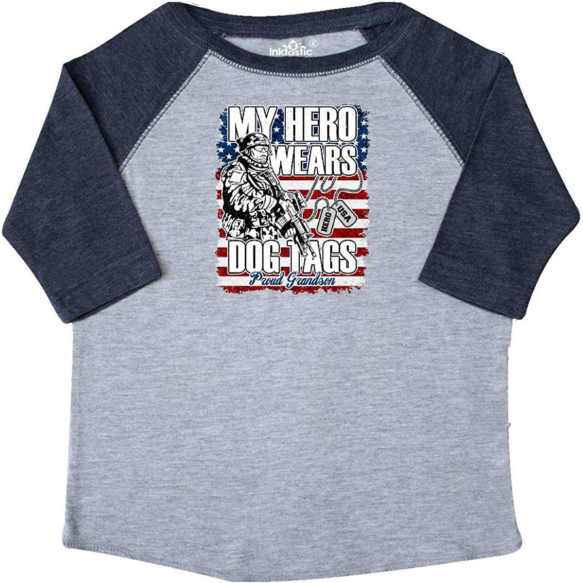 inktastic Military Proud Grandson of Soldier USA Flag Toddler T-Shirt