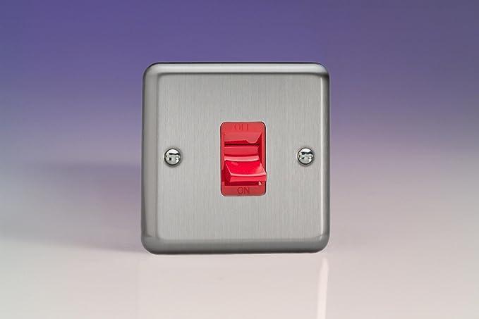 Marvelous Varilight 45A Cooker Switch Single Size Matt Chrome Xs45Sb Wiring Digital Resources Attrlexorcompassionincorg