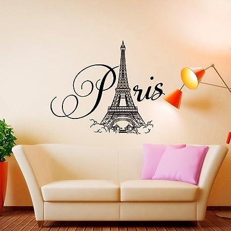 Paris Wall Decal Vinyl Lettering- Paris Bedroom Decor- Paris ...