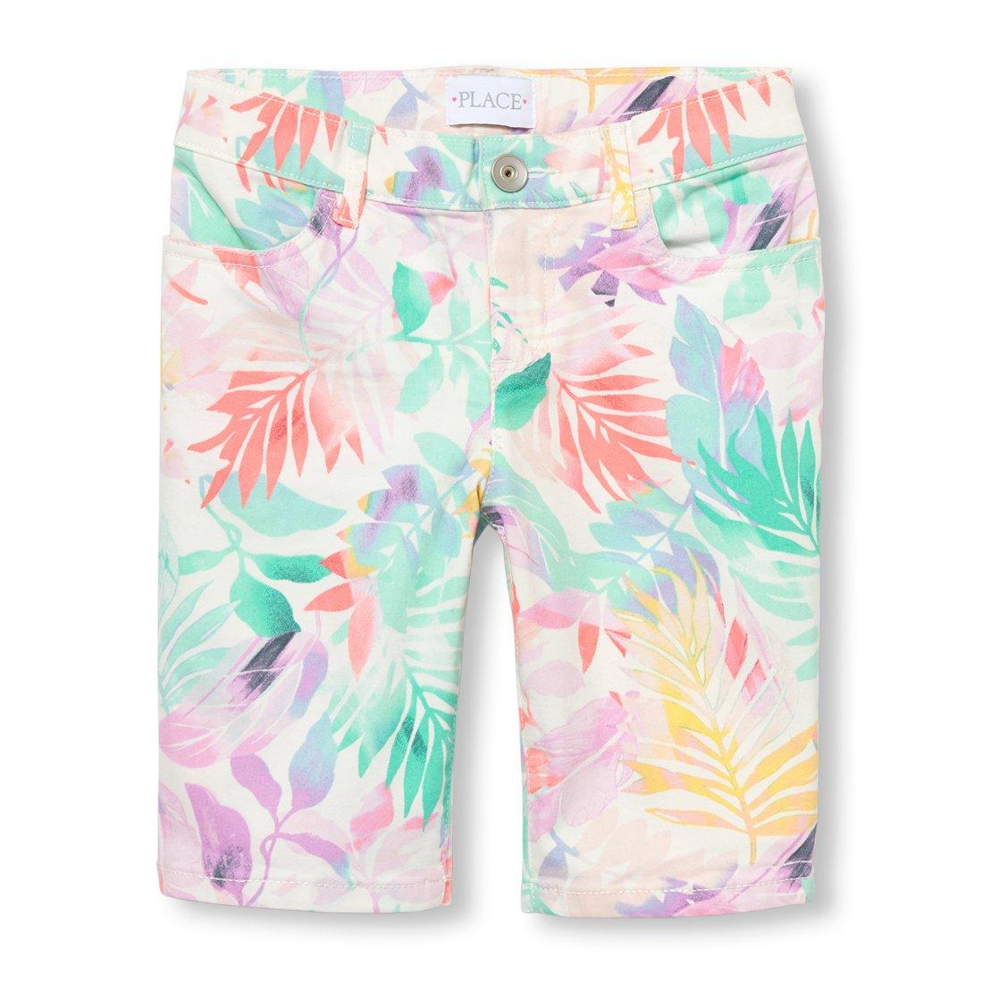 The Children's Place Big Girls' Skimmer Shorts, Simplywht 02509, 6X/7