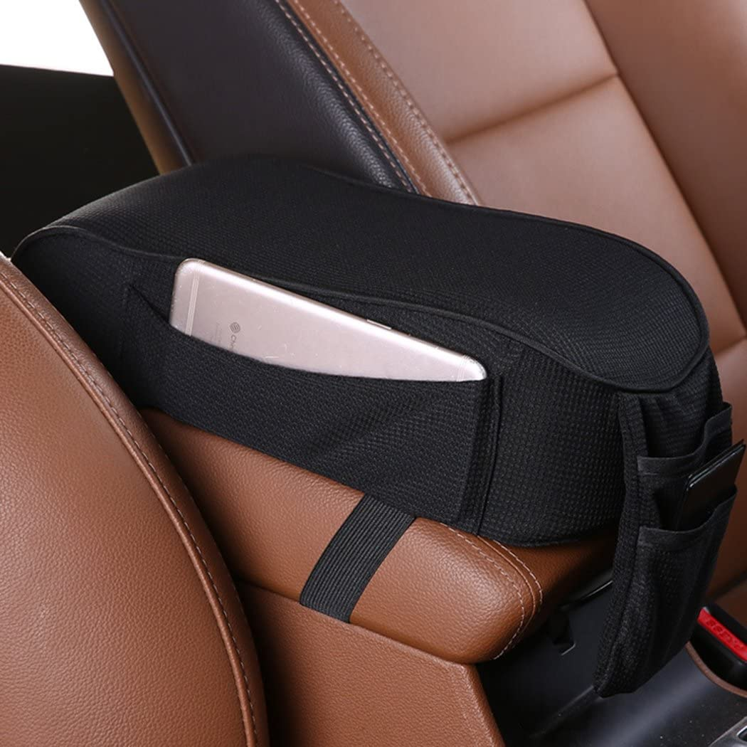 Sports Line Interior Center Console Arm Soft Armrest Cushion Red for Universal
