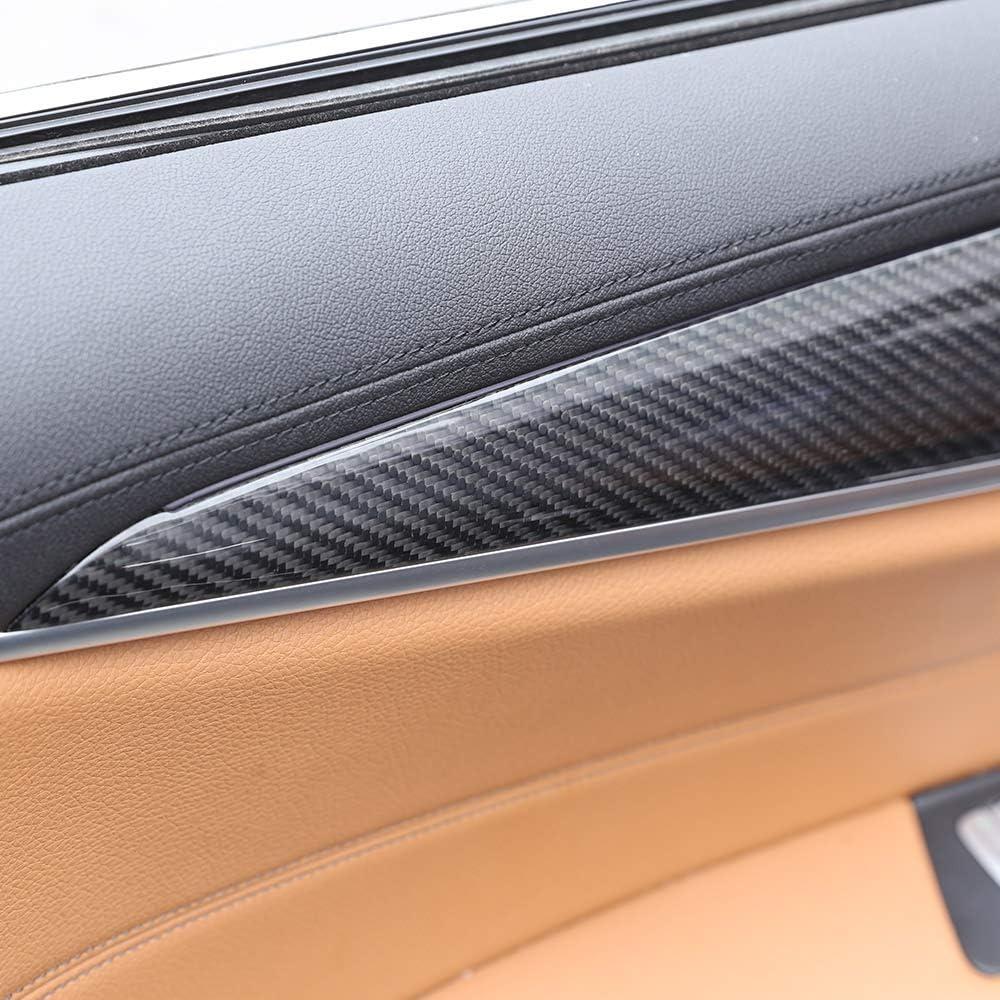 f/ür 5er-Serie G30 2017 2018 2019 4 x echte Karbonfaser-Auto-Innenraum-T/ür-Dekoration