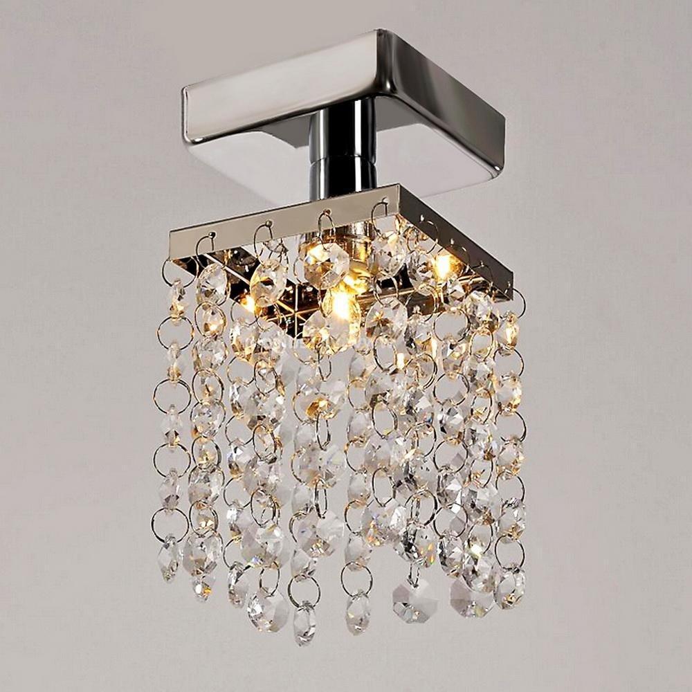 Kindsells Modern Home Living Room Lamp Stainless Steel Pendant Chandelier Ceiling Light Flush Mount (Grey)