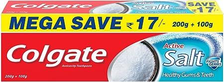 Colgate activo sal pasta de dientes pack ahorro – 200 g + 100 G: Amazon.es: Hogar