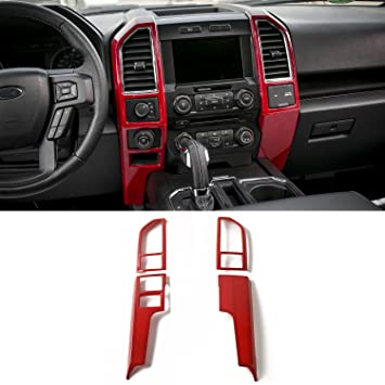 2015 F150 Accessories >> Voodonala Red Central Control Covers Frame Vent Trim Accessories For Ford F150 2015 2016 2017