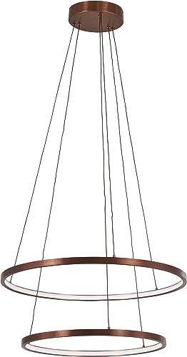 George Kovacs P8162-670-L Full Orbit LED Pendant, 35 Watt LED, Satin Bronze