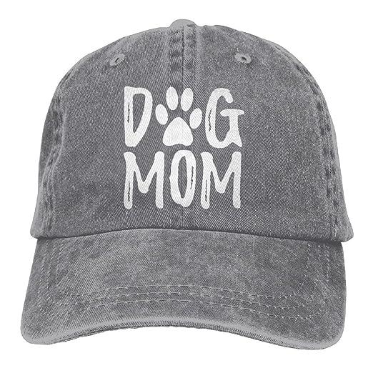 2f420e59d473c Unisex Dog Mom Vintage Jeans Adjustable Baseball Cap Cotton Denim Dad Hat