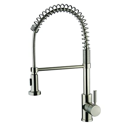 Yosemite Home Decor YP2814A-BN Single Handle Spring Pull-Out Kitchen ...