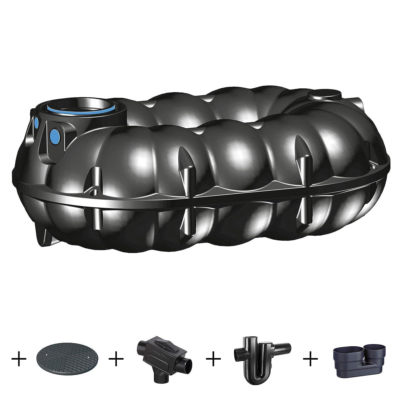 Kunststoffzisterne ber Komplettset PREMIER TECH AQUA GmbH Zisterne 5000 Liter Regenwassertank NEO Profi mit Deckel Kunststoff Zulauf und Siphon Filter
