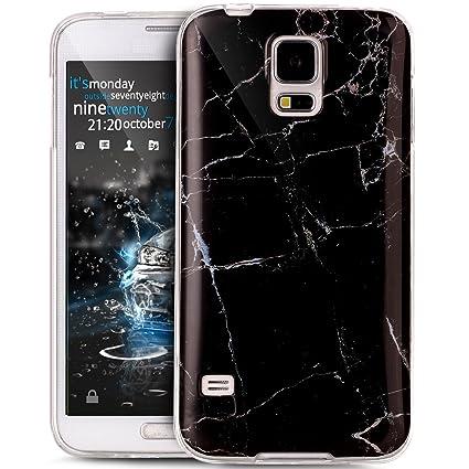 Ikasus® – Carcasa Galaxy S5 Neo brillante, estilo mármol, de ...
