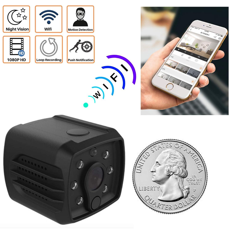 Mini Spy Camera WiFi Hidden - Nanny Cam for Home Security