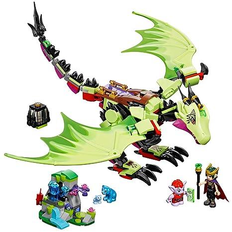 Amazon.com: LEGO Elves The Goblin King's Evil DRAGON 41183 Building ...