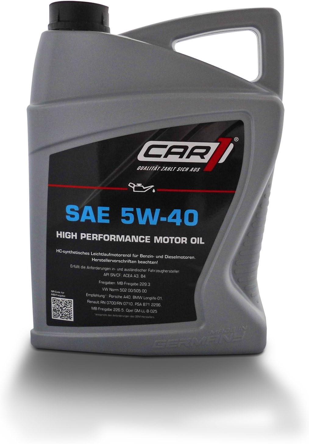 Car1 Engine Oil 5w 40 Smooth Running High Performance Engine Oil Petrol Diesel Petrol Engine Oil 5l Auto