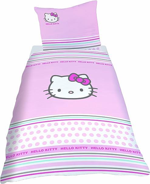 Nbaobao Set Copripiumino Hello Kitty Per Ragazze Morbido E Traspirante 100 Microfibra 135 X 200 Cm 80 X 80 Cm X 2 Copripiumini Tessili Per La Casa Zlineproducts Com
