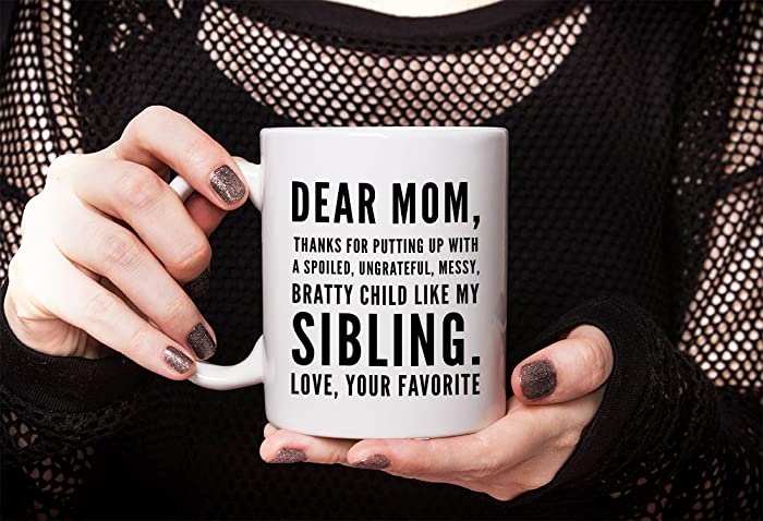 Amazon Dear Mom Thanks For Putting Up With Mug
