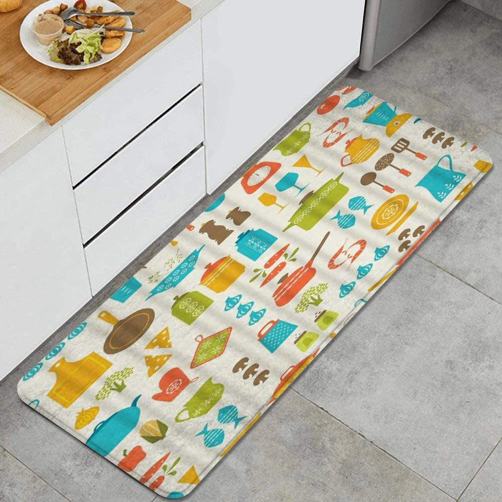 Amazon Com Corn Kitchen Utensils And Food Fall Leaves Decor Funny Autumn Winter Anti Fatigue Kitchen Mat Comfort Floor Mats Non Slip Oil Stain Resistant Easy To Clean Kitchen Rug Kitchen Dining