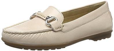 Geox Italy White, Schuhe, Flache Schuhe, Loafer, Beige, Female, 36