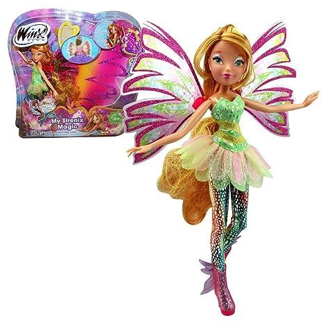 Winx Club My Sirenix Magic Flora Bambola E Fata Ali Per Le
