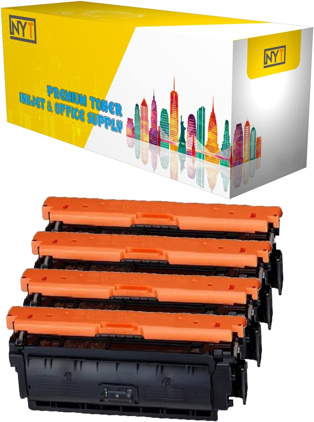 Black, 4-Pack NYT Compatible High Yield Toner Cartridge Replacement for Canon 040H BK for Canon imageCLASS LBP712cdn