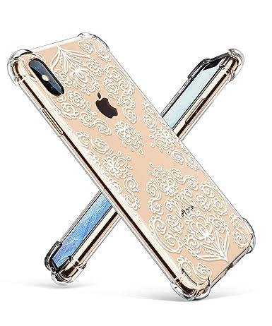 Amazon.com: GVIEWIN - Carcasa transparente para iPhone XS ...