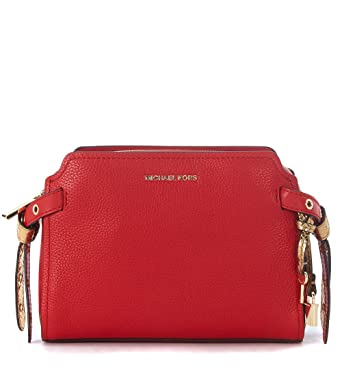 bda45f568b37 Image Unavailable. Image not available for. Color: MICHAEL Michael Kors  Womens Bristol Leather Messenger ...