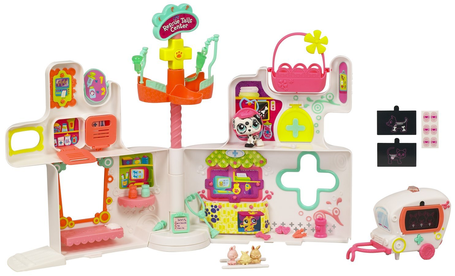 Salle De Bain Beton Bois ~ littlest pet shop playset rescue tails center amazon fr jeux et