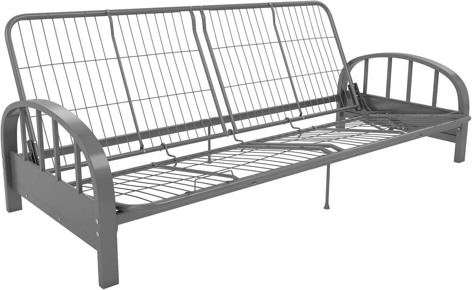 dhp aiden metal futon frame full size   silver futon frames   amazon    rh   amazon