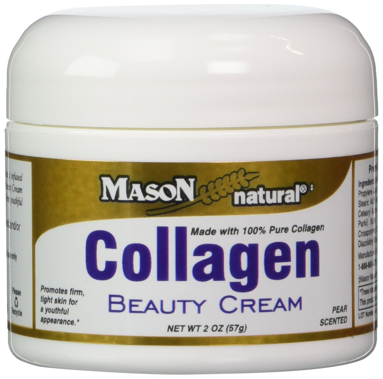 Amazon.com: Mason Natural Collagen Beauty Cream Made with 100% Pure Collagen - 2 oz: Health & Personal Care