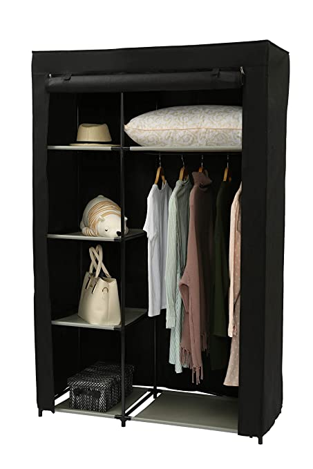 Homebi Clothes Closet Portable Wardrobe Durable Clothes Storage Non Woven  Fabric Wardrobe Storage Organizer With