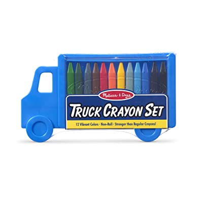 Melissa & Doug Truck Crayon Set - 12 Colors: Melissa & Doug: Toys & Games