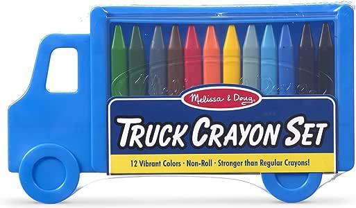 Melissa & Doug Truck Crayon Set - 12 Colors