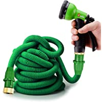 Gada 100 ft Expandable Garden Hose with 8-Way Spray Nozzle