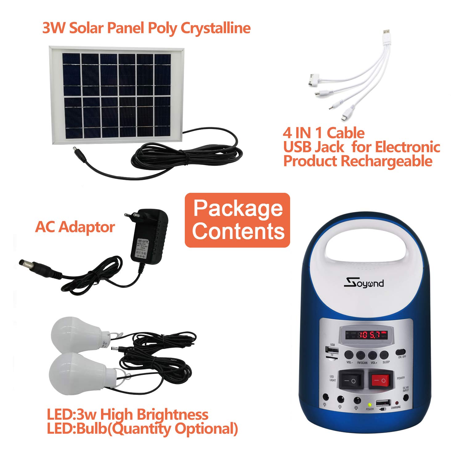 soyond Portable Solar Generator with Solar Panel Solar Powered Generator Inverter Small Basic Portable Electric Generator Kit by soyond (Image #6)