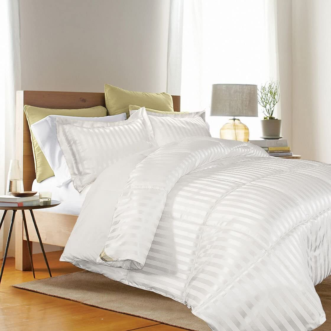 Kathy Ireland Home Essentials 3 Piece Reversible Down Alternative Comforter, King, White