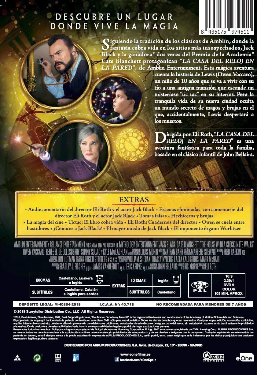 Amazon.com: La casa del reloj en la pared - The House with a Clock in Its Walls (Non USA Format): Movies & TV