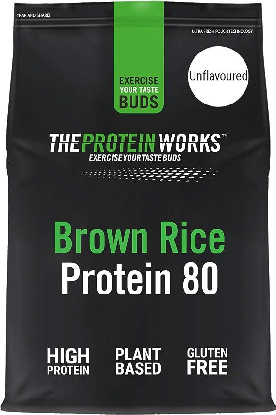 Proteína de Arroz Integral 80 | Sin sabor, 500 g | Proteína ...