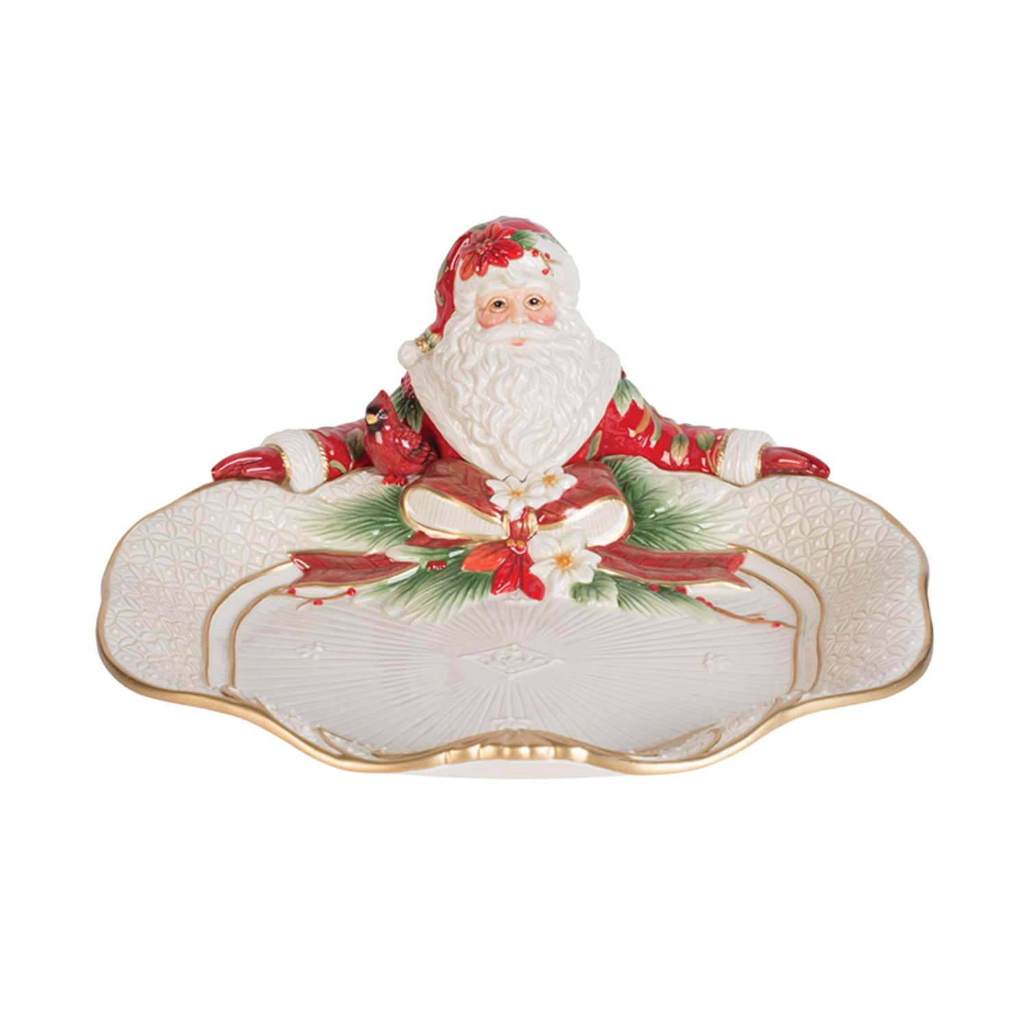 Fitz and Floyd 49-758 Cardinal Christmas Serving Platter, 33cm, Holiday Red B07G4YYRNL