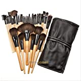 Imported 32pcs Professional Soft Cosmetic Eyebrow Shadow Makeup Brush Set + Pouch Bag