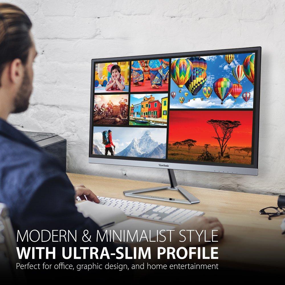 ViewSonic VX2276-SMHD 22'' IPS 1080p Frameless LED Monitor HDMI, DisplayPort by ViewSonic (Image #3)