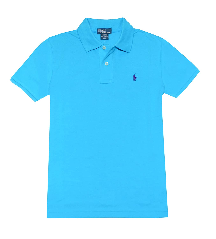 14-16 Polo Ralph Lauren Boys Classic Fit Pony Logo Polo Shirt , Delray Blue L